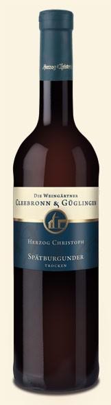 Spätburgunder Herzog Chr. QbA 2009 WG Cleebronn-Güglingen 0,75l.