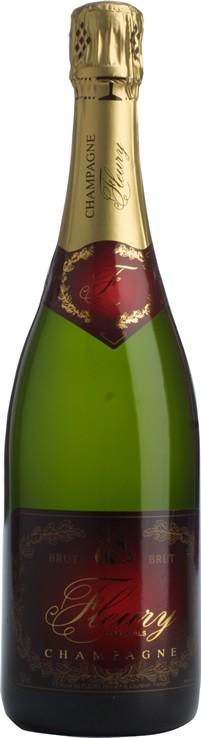 Champagner Brut Carte Rouge Fleury  Biochampagner 0,75l.