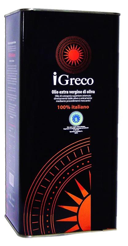 Bio-Olivenöl Extravergine  100% iGreco 5Ltr. Cariati, Kalabr