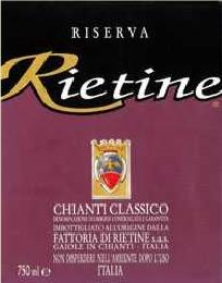 Chianti Classico Riserva Rietine 2005 DOCG  1,50l. Magnum