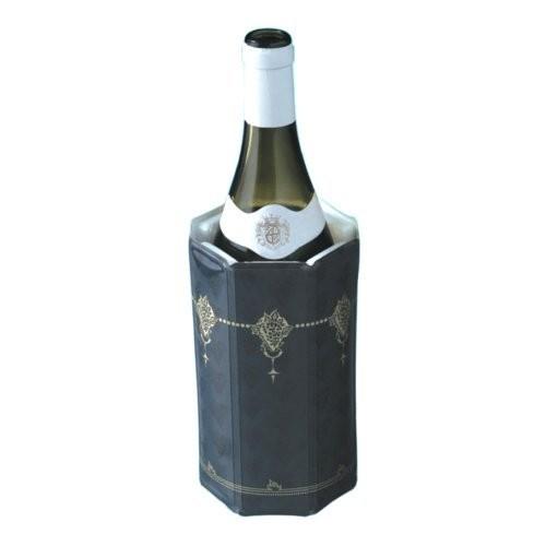 Vacu Vin Rapid Ice Weinkühler Pack Motiv schwarz Klassik 0,75 - 1,0 Liter