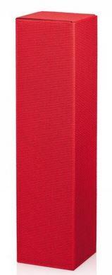 Flaschenkarton 1er PTZ, Welle Modern Rot